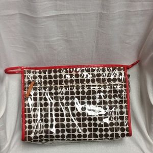 EUC Kate Spade NY Red & Black Polka Dot Makeup Bag